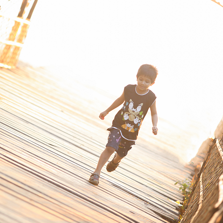 Young Child with Asthma Running
